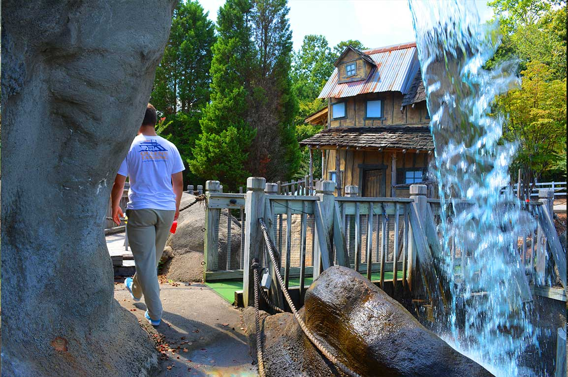 Lake Norman Lakeside Putt Putt bridge