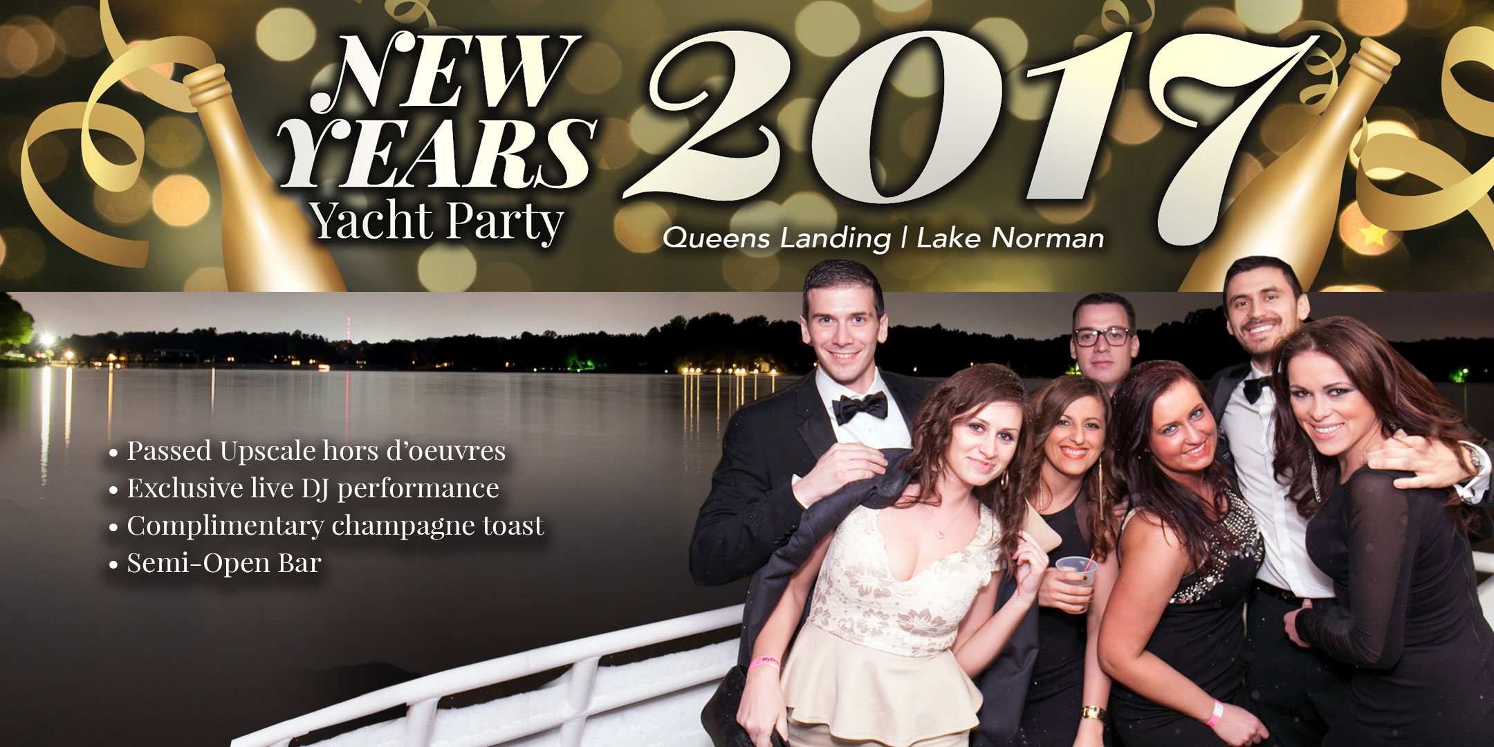 New Years Eve Yacht Party 2017 – Queens Landing